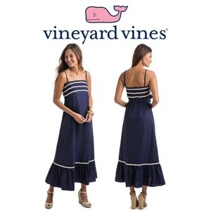 Vineyard Vines Deep Blue Ric Rac maxi dress size S
